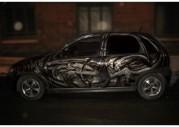 Аэрография Чужой на Opel