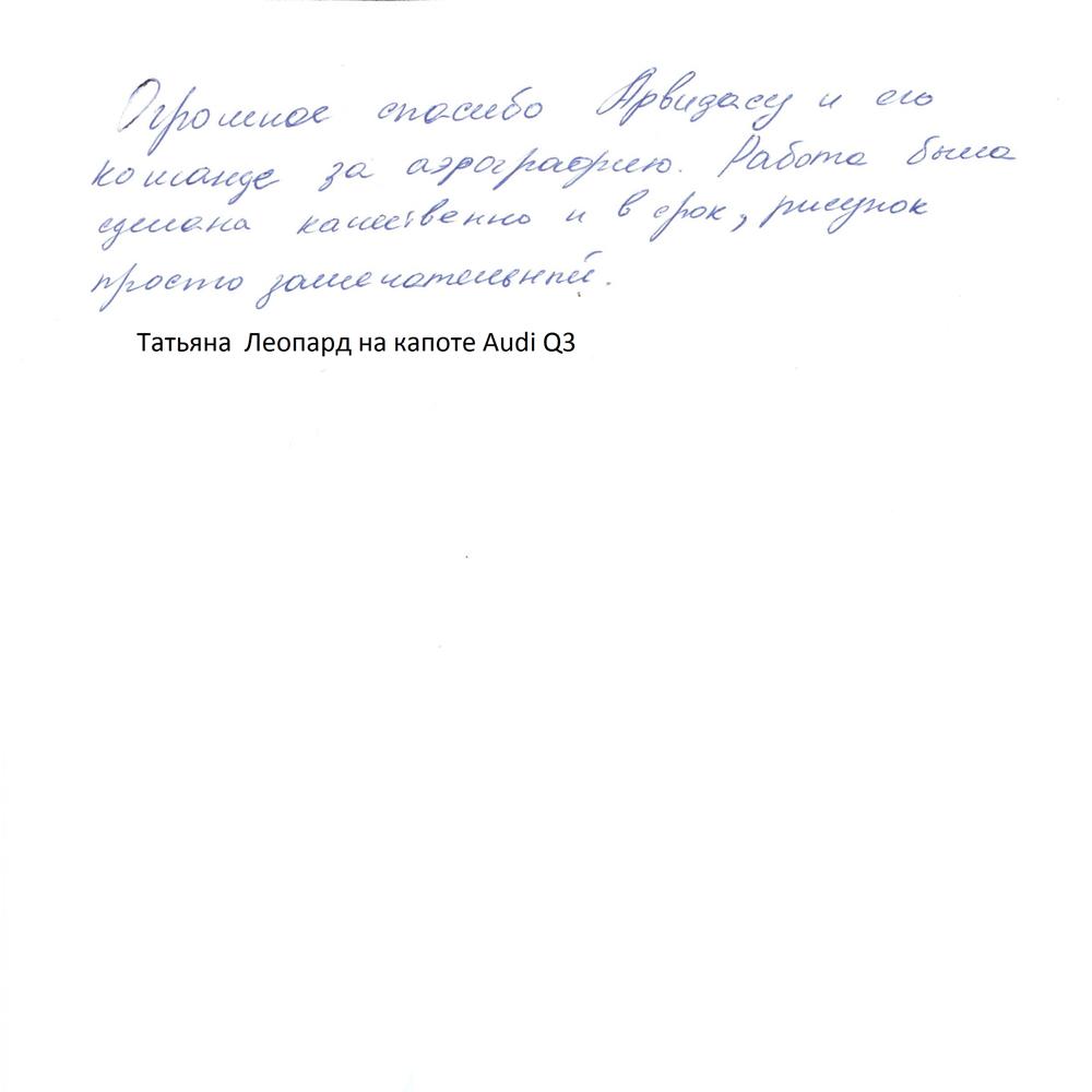 Татьяна, Audi Q3